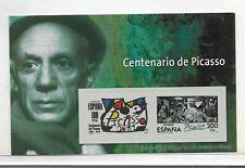 España Pintura Centenario Picasso Hoja Recuerdo de Series del año 1981 (ES-416)