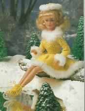 Crochet Pattern ~ Fashion Doll Ice Skating Outfit Dress Hat Skates ~Instructions