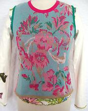 Geblümte hüftlange Damen-Pullover & -Strickware aus Baumwolle