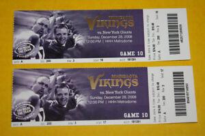 Minnesota Vikings Ticket Stub | December 28 2008 | Adrian Peterson TD