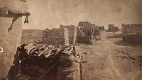 1885 Landscape Ancient Hopi Pueblo Shungopavi Indian Village by D.B. Chase CO AZ