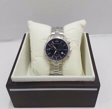 Philip Watch Blaze Chronograph Steel Blue Dial Swiss Made Watch With Date