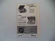 advertising Pubblicità 1960 GARIS FONOVALIGIA MINIE II/SAMOA