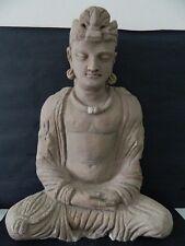 Ancient Huge Size Stucco Sitting Bodhasattva Gandhara/Gandharan 200 AD  #IK846