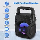 Portable Wireless Bluetooth Speaker FM Radio Indoor Outdoor Party Lights Bass US