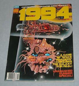 October 1981 WARREN 1994 FANTASY ILLUSTRATED MAGAZINE # 21 FRANK THONE GHITA GGA