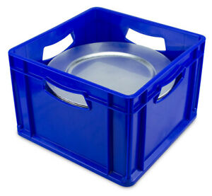 """Charger Plate Storage Box   12"""" Dinner Plate Storage Box   Blue Plate Box"""