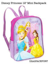 "Kids Disney Princess Pink 12"" Mini Opp BACKPACK Toddler Preschool Girls School"