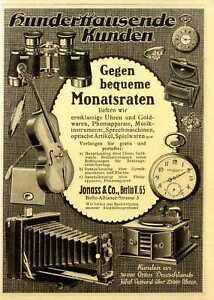Sprechmaschinen u.a. Jonass Ratenkauf Marken-Hersteller-Werbung Offerte von 1913