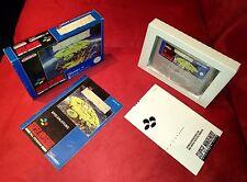 SNES Super Nintendo Jeu POPULOUS avec neuf dans sa boîte d'emballage instructions