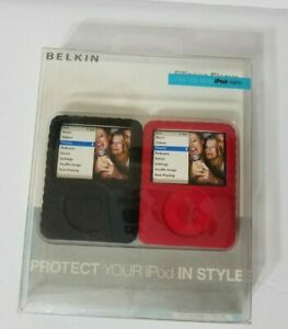 Belkin Micro Grip for iPod Nano 3rd Generation Black and Red 2 pack