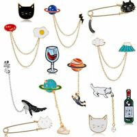 New Cartoon Astronaut Lapel Pins Enamel Brooch Pin Badge Women Men Gift Party
