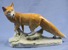 Fuchs sehr groß Sitzendorf porzellanfigur 1940 figur tierfigur selten,antik
