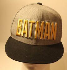 DC Comics Batman Hat Cap Grey with Yellow Logo Snapback