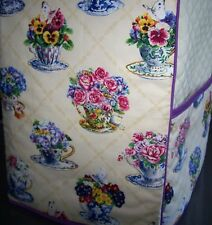 Teacups Tea Cups and Roses Quilted Cover for KitchenAid Mixer New