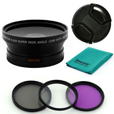 0.43X WIDE ANGLE LENS,filter kit for CANON XL1S XL1 XL2 XHA1 XHG XH-A1 72mm camc