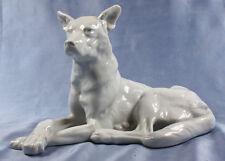 ac schäferhund Hund hundefigur porzellanfigur Herend  figur weißer schäferhund