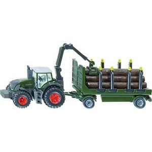 NEW FARMER SIKU 1861 Fendt 939 Tractor with Forestry Trailer 1:87 Die Cast Model