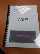 NINTENDO WII U FULL PRINTED USER MANUAL GUIDE INSTRUCTIONS 58 PAGES