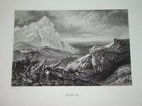 Gravure ORIENTALISTE Vue RAMLA ISRAEL PALESTINE 1840 VOYAGE ORIENT LAMARTINE