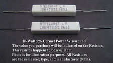 8.2-Ohm 10W 5%  Power Resistors: Mfg. NTE: 2/Pack: Great Price for Small Qty