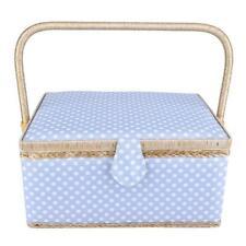 Large Sewing Basket Household Fabric Craft Thread Needle Storage Box Organizer