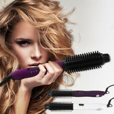 Hair Straightener Curler Dual Ionic Ceramic Wand Curling Iron Brush Roller