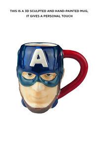 Marvel Ceramic Captain America 3D Mug