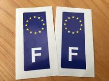 French Euro Number Plate Stickers (pair)