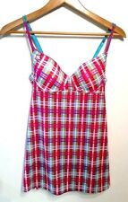 Vintage Victoria's Secret 2007 Plaid Nightgown padded top Size S Small pink/blue