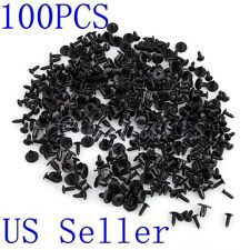 100 X 6mm Car Plastic Rivets Hole Dia Fastener Fender Bumper Push Pin Clips Clip