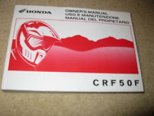 Honda Motorcycle Owner's Manual CRF50F 2004