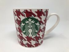 Starbucks 2017 Red Houndstooth Checkered Coffee Mug Cup 18 oz