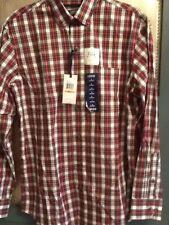 Izod Mens Size Small Long Sleeve Sport Flex Dress Shirt Heritage Tartan NWT