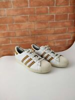 BOY'S KIDS ADIDAS SUPERSTAR WHITE CROC TRAINERS SNEAKERS UK 4 EU 36.6 SHOES
