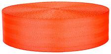 2 Inch Hot Orange Seat-belt Polyester Webbing Closeout, 5 Yards