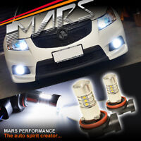 2x MARS Performance Torch Projector LED SMD White Fog Light bulbs Holden Cruze