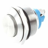Momentary Push Button Switch 22mm Flush Mount SPST ON/OFF H2X5