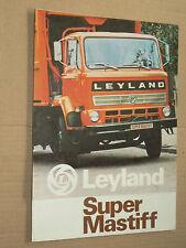 Catalogue Dépliant Camion LEYLAND SUPER MASTIF Prospectus prospekt truck LKW