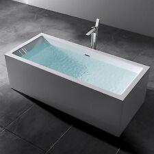 freistehende Badewanne Rechteck Acryl Wanne Standbadwanne 180x80 Vicenza509oa