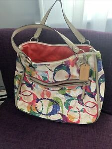 Coach double handle tote bag
