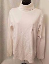 St. John's Bay NWT Woman's White Turtleneck Shirt Size M