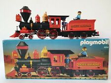 Playmobil Western Eisenbahn Lok 4054 Steaming Mary mit original Figuren in OVP