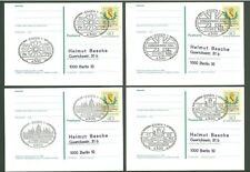 Stationery An69 4 Postcards Sc Germany 1978 Coat of Arms Palace Below face
