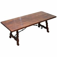 RRP £6000 SOLID MAHOGANY THEODORE ALEXANDER REFECTORY TRESTLE DINING TABLE