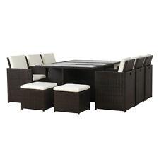 Poly Rattan Essgruppe Garnitur Sitzgruppe Aluminium Polyrattan braun Qualität