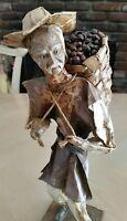 Paper Mache Village People Mexican Folk Art Figurine Sculpture Ethnic Culture