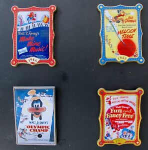 DISNEY 4 Pin Set from 2002 12 Months of Magic Movie Posters