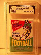 1964 O-Pee-Chee Football Wax Pack GAI Gem Mint 9.5 CFL Cards Rare