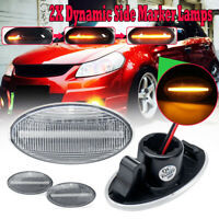 2 Dynamic LED Side Marker Indicator Light For Suzuki Swift Alto SX4 Jimmy